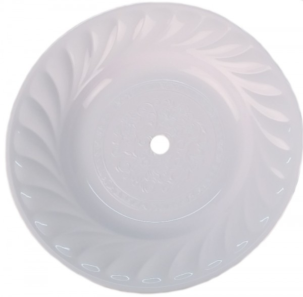 Kohleteller - White - 39 cm Ø
