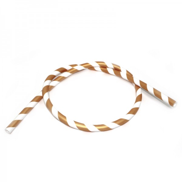 Silikonschlauch - Matt Striped - Golden/White