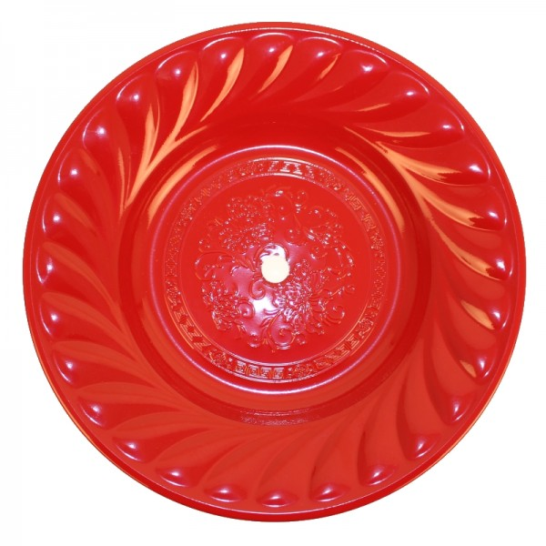 Kohleteller - Red - 34 cm Ø